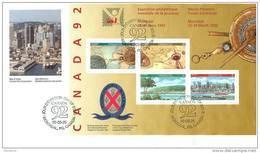 1992  Canada'92 Youth Philatelic Exhibition  Sc 1407a  Souvenir Sheet - 1991-2000