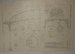 Plan D'un Kiosque Abri Pour Orchestre à Saint Denis, Seine. M. E. Lainé, Architecte. 1904 - Public Works
