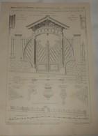 Plan D'une Clôture, Porte En Bois Et Grilles En Fer.Propriété De M.B.... à Saint Cloud. M. E. Barberot, Architecte. 1904 - Public Works