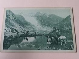 Chèvres Valaisannes Au Glacier Du Rhone( A.L.P. N° 7043 ) Anno 19?? ( Zie Foto Voor Details ) ! - VS Valais