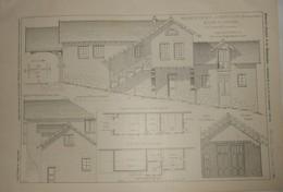 Plan De La.Propriété De M.B.... à Saint Cloud. Ecurie Et Remise. M. E. Barberot, Architecte. 1904 - Public Works