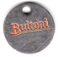 Jeton De Caddie En Métal - Buitoni - Buitoni Nous Vient Du Coeur De L'Italie - Jetons De Caddies