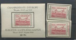 1950. Bloc 29 **.et Deux Surchargés.  Cote 115,- Athlétisme. Au Stade Du Heyzel - Belgique