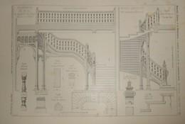 Plan Du Grand Escalier De La.Propriété De M.B.... à Saint Cloud. M. E. Barberot, Architecte. 1904 - Public Works