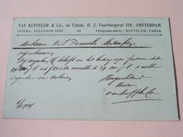 Briefkaart VAN KUFFELER & C° In TABAK () Stamp : Anno 1914 > ANTWERPEN ( Zie Foto Voor Details ) ! - Lettres & Documents