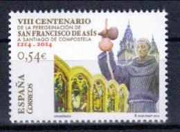 Spanien 'Wallfahrt Franz Von Assisis Nach Santiago' / Spain 'Pilgrimage Of St.Francis Of Assisi To Santiago' **/MNH 2014 - Christentum