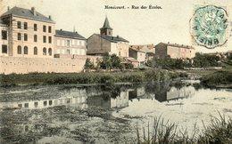 CPA - HOMECOURT (54) - Aspect Du Quartier Du Plan D'eau De L'Orne Et De La Rue Des Ecoles En 1906 - Homecourt