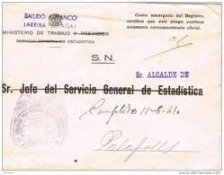 29195. Carta BARCELONA 1941. Franquicia Ministerio Trabajo Estadistica - 1931-50 Lettres