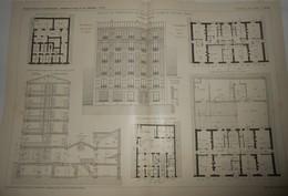 Plan D'une Maison De Commerce Et De Rapport Au Kremlin Bicêtre, Seine. M. Wagret, Architecte. 1904 - Public Works
