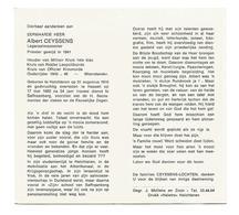 P 461. E.H. A. CEYSSENS-Legeraalmoezenier SAFFRAANBERG- Oudstrijder 1940-45-Weerstander-°HELCHTEREN 1916 /+HASSELT 1982 - Andachtsbilder