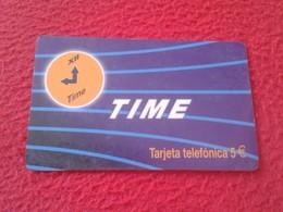 RARA RARE ANTIGUA TARJETA TELEFÓNICA PHONE CARD ESPAÑA SPAIN ESPAGNE ? TIME 5 EUROS XII VER FOTO/S Y DESCRIPCIÓN IDEAL C - Espagne