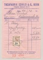 Schweiz - 1938 - 20c Stempelmarke Canton Bern On Invoice - Fiscale Zegels