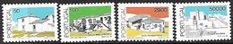 Portugal  1989  Sc#1631-2, 1640, 1650  Buildings  4 Diff To 500e MNH  2016 Scott Value $7.20 - 1910-... República