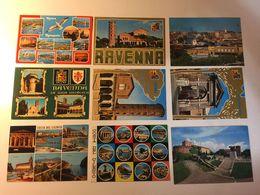 Lotto Cartoline - Cattolica Cesenatico Riccione Ravenna Cilento Trieste Etc - Cartes Postales