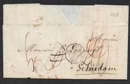 1853 LAC  Paris A Schiedam Pays Bas. Envoyé A Londres Par Erreur - Interessant - Marcophilie (Lettres)