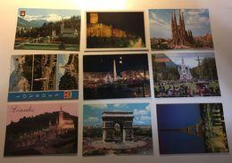Lotto Cartoline - Lourdes Paris Barcelona Tour Eiffel - Cartoline