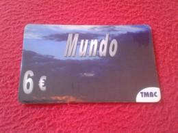 RARA RARE ANTIGUA TARJETA TELEFÓNICA PHONE CARD ESPAÑA SPAIN ESPAGNE ? MUNDO 6 EUROS TMBC VER FOTO/S Y DESCRIPCIÓN - Espagne