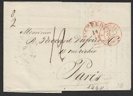 1853 NL Entire Amsterdam To Paris - Retard Du Convoi - Pays-Bas