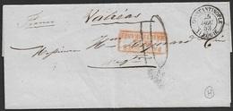 1853 LSC Turquie Constantinople A La France Valréas - Paquebots De La Mediterranee - Poste Maritime - Turkey