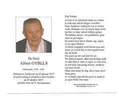 D 248. ALBERT GYBELS - Oudstrijder 1940/45 - °ZONHOVEN 1917 / +ST-TRUIDEN 2007 - Images Religieuses