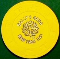 NCV Casino Chip. Bally's Reno, NV. Rare. E62. - Casino
