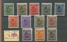 1933.  Yougo 239/250. Cote 150,- €. Avec Charnière - 1931-1941 Königreich Jugoslawien
