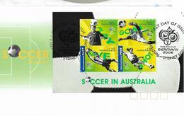 2006 Australien Mi. Bl 61  FDC  Fußball-Weltmeisterschaft, Deutschland - FDC