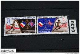 Neu Hebriden    1969    Mi. 279 - 280  ** Postfrisch   /  3. Südpazifische Spiele - Neue Hebriden