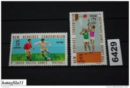 Neu Hebriden    1971    Mi. 305 - 306  ** Postfrisch   /  4. Südpazifische Spiele , Papeet ( Tahiti ) - Neue Hebriden