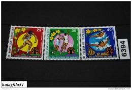 Französisch Polynesien     1975    Mi. 198 - 200  ** Postfrisch   /  5. Südpazifische Sportspiele , Guam - Polinesia Francese