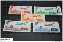 China    1951     Mi. 95 -  99 ** Postfrisch ( * ) - 1949 - ... République Populaire