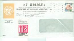 """3 EMME"",MANIFATTURE METALLURGICHE MERIDIONALI,CONVERSANO(BARI),BUSTA LOGO,ERINNOFIOLO SIMEI 1983, - Spumanti"