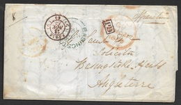 1850 LAC Payé A Basingstoke Angleterre - Marcophilie (Lettres)