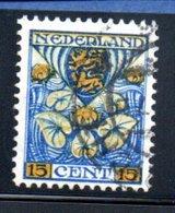 Pays Bas    /   N 189 / 15 Cent Bleu  / Oblitéré - Period 1891-1948 (Wilhelmina)