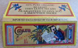 """Carnet De Papier à Cigarettes """"  CLUB   """"  Bistro Widin - SD MODIANO 100% Pure Organic They Leave No Ash ... - Etuis à Cigarettes Vides"""