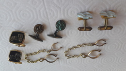 Lot De 4 Boutons (bouton) De Manchette - Cuff Links & Studs