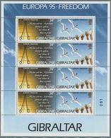 1995 Europa C.E.P.T., Minifogli Gibilterra, Serie Completa Nuova (**) - Europa-CEPT