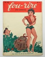 Fou-rire, Revue Humoristique. - N° 3, Juin 1952 - Livres, BD, Revues