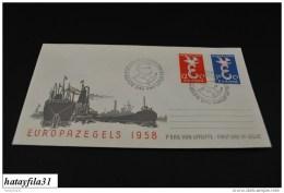Niederlande    CEPT  FDC  1958   Mi. 718 - 719   ( T - 80 ) - Europa-CEPT