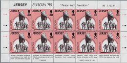 1995 Europa C.E.P.T., Minifogli Jersey, Serie Completa Nuova (**) - Europa-CEPT