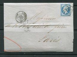 Lettre De 1865 De LYON LES TERREAUX (68)- Y&T N°22-  DE ROTHSCHILD FRERES - 1862 Napoléon III.