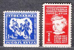 Yugoslavia Republic 1945 Mi#459-460 Mint Never Hinged - 1945-1992 Socialistische Federale Republiek Joegoslavië