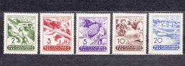 Yugoslavia Republic 1950 Airmail Mi#611-615 Mint Hinged - Unused Stamps