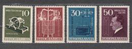 Yugoslavia Republic 1956 Mi#791-794 Mint Hinged - 1945-1992 Socialistische Federale Republiek Joegoslavië