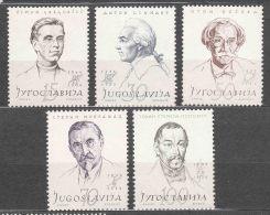 Yugoslavia Republic, Famous Persons 1957 Mi#834-838 Mint Hinged - 1945-1992 Socialistische Federale Republiek Joegoslavië
