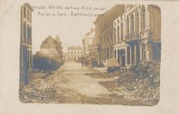 Diksmuide - Dixmude 18/9/1915 Fotokaart Wereldoorlog1. Bahnhofstrasse - Rue De La Gare. - Diksmuide