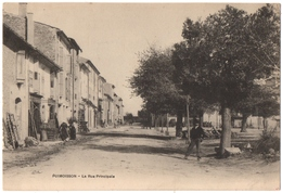PUIMOISSON (04) LA  RUE PRINCIPALE. - Other Municipalities