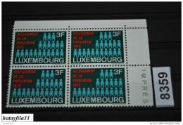 Luxemburg  1970  Mi. 811  ** Postfrisch  4er Block   /  100  Jahre  Bistum Luxembur - Luxembourg