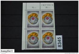Luxemburg  1966  Mi. 750   ** Postfrisch   4er Block   /  50 Jahre Lions Internaional - Luxembourg