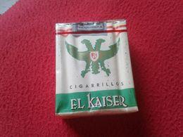 ANTIGUO PAQUETE DE 20 CIGARRILLOS TABACO BLANDO EL KAISER TENERIFE SPAIN ESPAGNE OLD TOBACCO PACKAGE CIGARETTES VER FOTO - Cigarette Holders